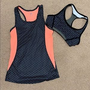 Girls workout tank and bra